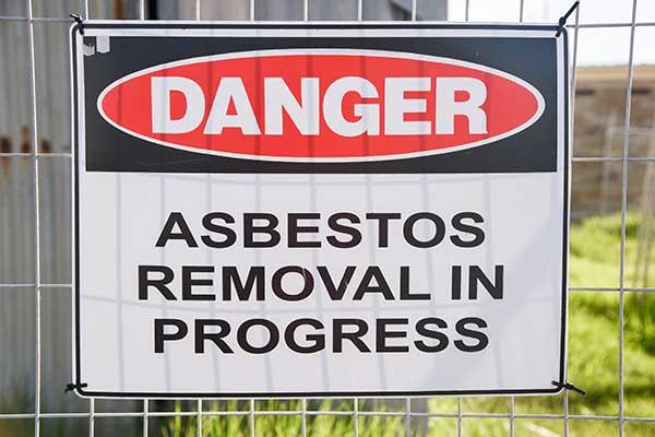 Asbestos Danger Sign Board