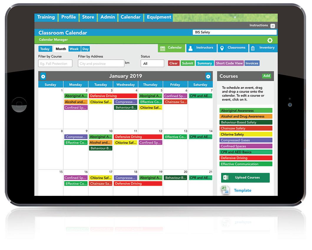 Online Classroom Calendar Management System Software