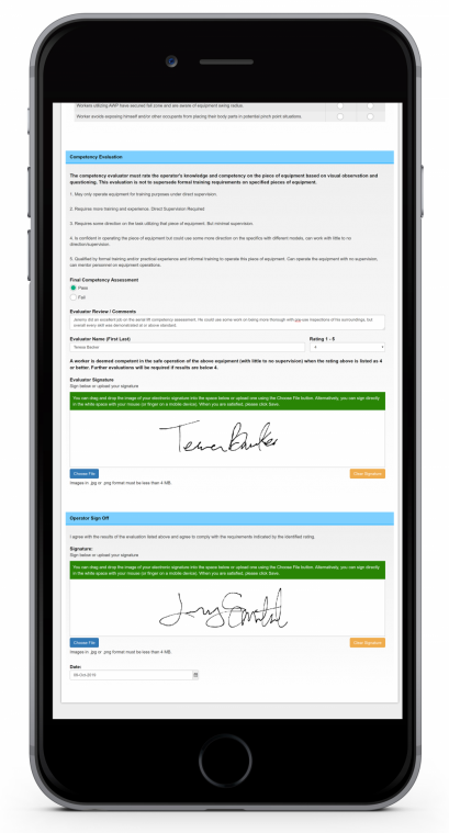 competency management software on a phone