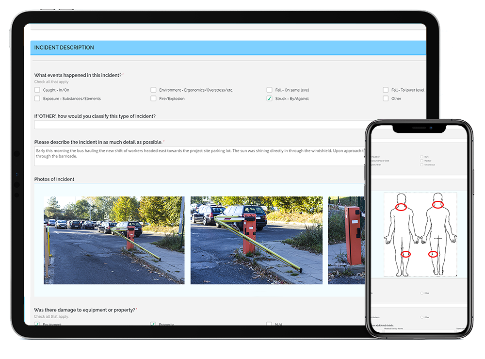 Incident Management software on a tablet